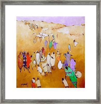 Simple People  Framed Print by Negoud Dahab