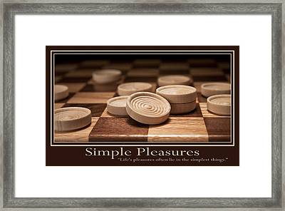 Simple Pleasures Poster Framed Print