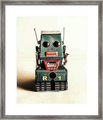 Simple Robot From 1960 Framed Print