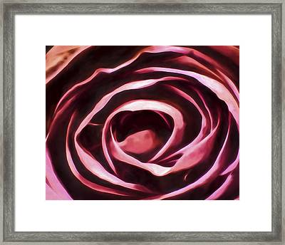 Simple Rose Framed Print