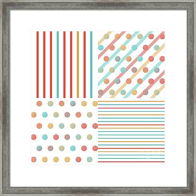 Simple Saturated Pattern Framed Print