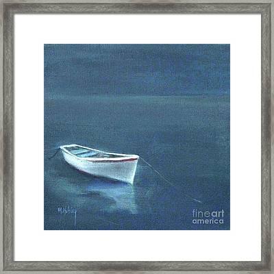 Simple Serenity - Lone Boat Framed Print