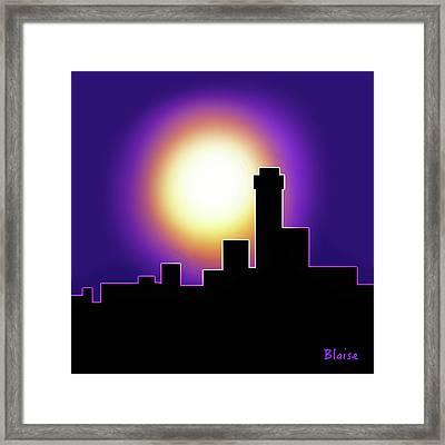 Simple Skyline Silhouette Framed Print by Yvonne Blasy