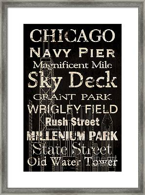 Simple Speak Chicago Framed Print