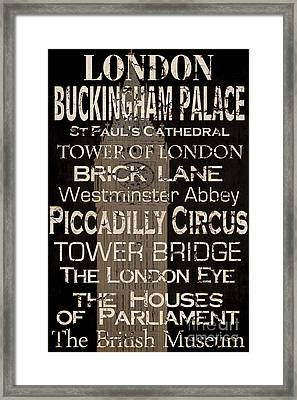 Simple Speak London Framed Print by Grace Pullen
