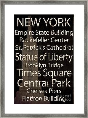 Simple Speak New York Framed Print