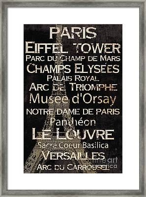 Simple Speak Paris Framed Print by Grace Pullen