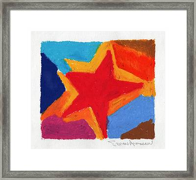 Simple Star Framed Print by Stephen Anderson