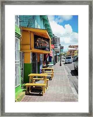 Simple Street View Framed Print