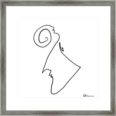 Simple Thought Framed Print