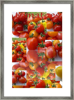 Simple Tomatoes Framed Print by Tina M Wenger
