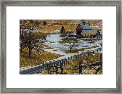 Simple Vermont Beauty Framed Print by Joe Faragalli