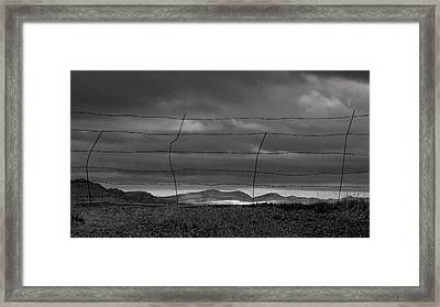 Framed Print featuring the photograph Simple West by Al Swasey