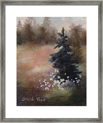Framed Print featuring the painting Simplicity by Brenda Thour