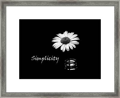 Simplicity Daisy Framed Print by Barbara St Jean