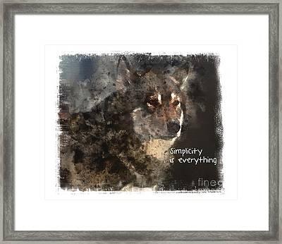 Simplicity Framed Print by Elaine Ossipov