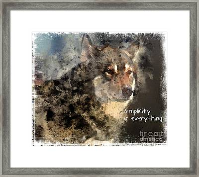 Simplicity Is Everything -light Framed Print