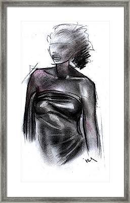 Simplicity Of Beauty Framed Print by Okwir Isaac