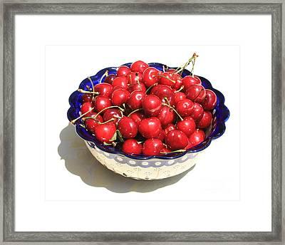 Simply A Bowl Of Cherries Framed Print by Carol Groenen