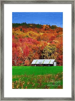 Simply Adirondack Framed Print by Diane E Berry