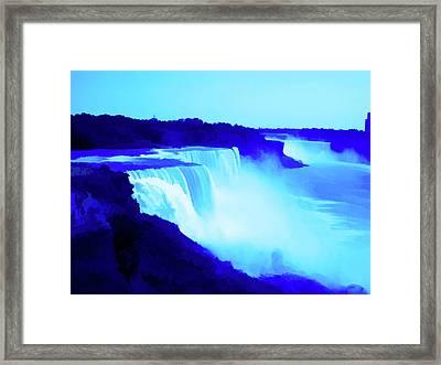Simply Blue Niagara Falls Framed Print