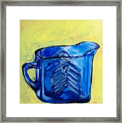 Simply Blue Framed Print by Sheila Tajima