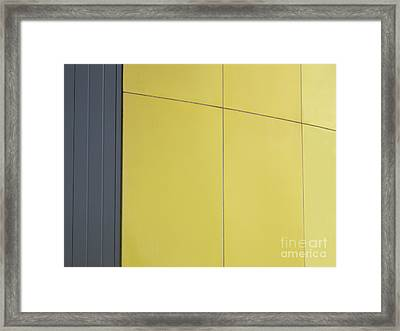 Simply Gray And Yellow Framed Print by Ann Horn