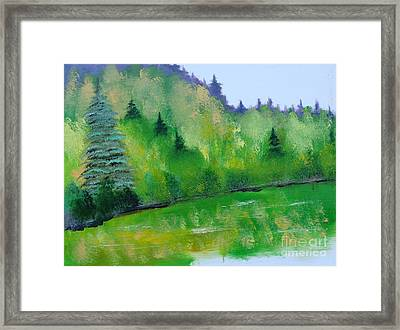 Framed Print featuring the painting Simply Green by Rod Jellison