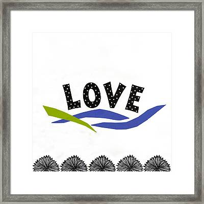Simply Love Framed Print