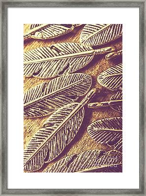 Simply Metallic Framed Print