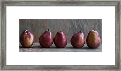 Simply Pears Framed Print by Maggie Terlecki