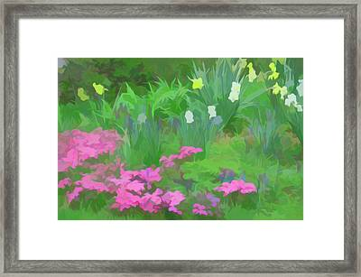Framed Print featuring the photograph Simply Soft Garden Escape by Aimee L Maher Photography and Art Visit ALMGallerydotcom