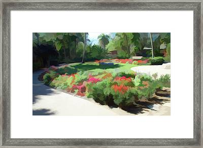 Framed Print featuring the photograph Simply Soft Garden Park by Aimee L Maher Photography and Art Visit ALMGallerydotcom