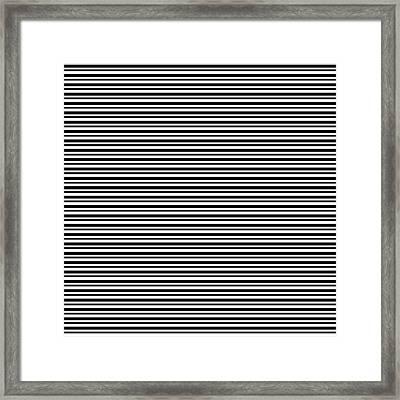Simply Stripes- Art By Linda Woods Framed Print
