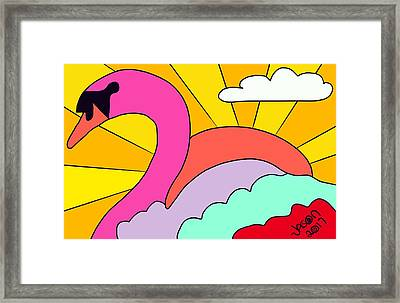Simply Swan-sational Framed Print