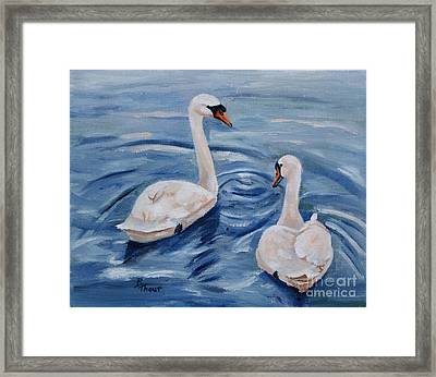 Simply Swans Framed Print by Brenda Thour