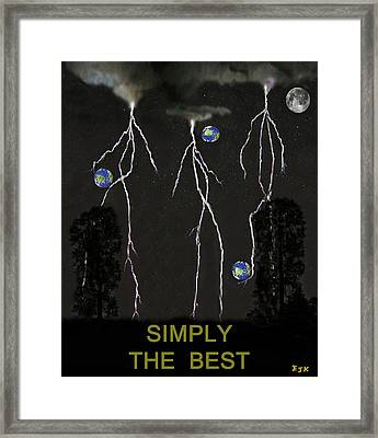 Simply The Best World Football Framed Print by Eric Kempson