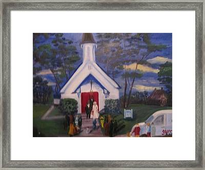 Simpson Christian Community Church Framed Print by Gloria Condon