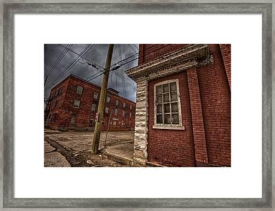 Simpson Street Back Alley II Framed Print by Jakub Sisak