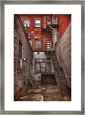 Simpson Street Back Alley Framed Print by Jakub Sisak