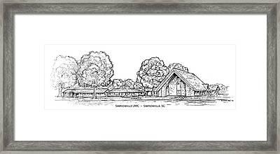 Simpsonville Umc Framed Print by Greg Joens