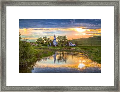 Sims Church 1 Framed Print by Chad Rowe