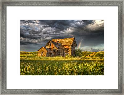 Sims House After The Storm Framed Print by Chad Rowe
