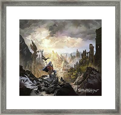 Simurgh Call Of The Dragonlord Framed Print