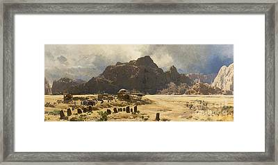 Sinai Landscape With The Mountain Jebel El-deir Framed Print by MotionAge Designs