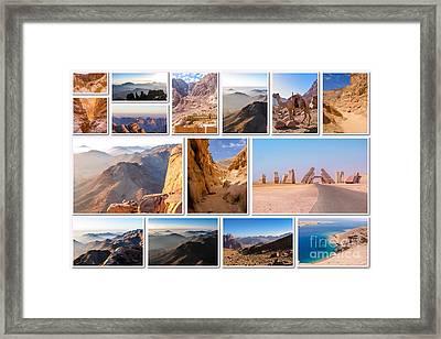 Sinai Peninsula Landmark Collage Framed Print by Benny Marty