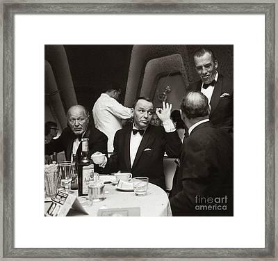 Sinatra And Ed Sullivan At The Eden Roc - Miami - 1964 Framed Print