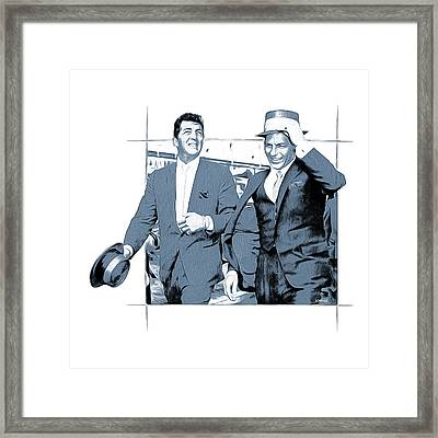 Sinatra And Martin Framed Print by Greg Joens
