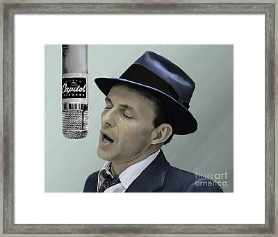 Sinatra - Color Framed Print by Paul Tagliamonte