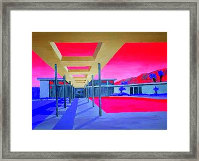 Sinatra House Four Framed Print by Randall Weidner